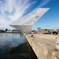 The Salling Tower at Aarhus Harbour by Dorte Mandrup