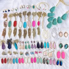 Updated Kendra Collection 5•8 ✨ All my pieces as of today! I love my collection!  will most likely be selling brown Pearl Corleys and possibly abalone Corleys! Kendra Scott Jewelry