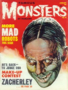 "Zacherley featured on cover of ""Famous Monsters Of Filmland"""