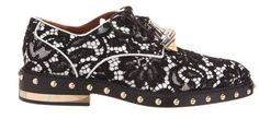 Aelxander McQueen lace studded brogue