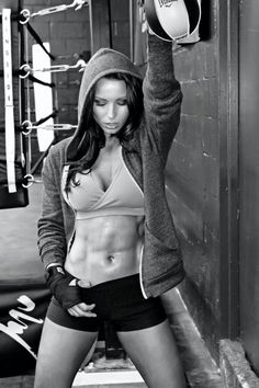Proud after getting body like this. Go girl! Awesome abs!