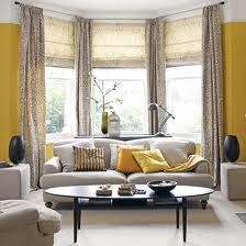 Inspiration for the living room...Love yellow and grey!