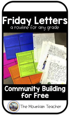 A New Way To Connect With Students Friday letters are mine and my students FAVORITE part of the week. Whenever students start telling me a story and I can tell we might not have time for it, inste… Community Building Activities, Building Classroom Community, 5th Grade Classroom, Middle School Classroom, Future Classroom, Classroom Activities, Classroom Ideas, Classroom Organization, Leadership Activities