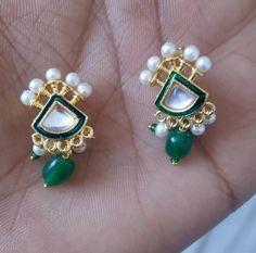 Wow!! Glamourous rajasthani nose pin. Contact 9119114499. Royal Jewelry, Gold Jewelry, Rajputi Jewellery, Studs, Eye Candy, Gemstone Rings, Jewelry Design, Glamour, Jewels