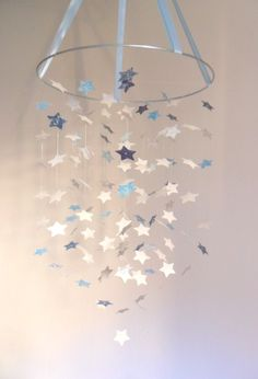 The Shabby Chic Boy Star Mobile Diy Kit /// Nursery Decor, Photo Prop, Baby…