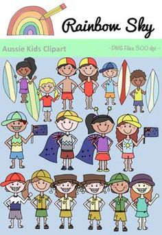Home :: Grade / Year Level :: Primary Education :: Foundation - Year 2 :: Aussie Kids Clipart - Australia Day Math Clipart, Science Clipart, Japanese Language Proficiency Test, Valentines Day Clipart, Winter Clipart, Australian Flags, Japanese Symbol, Surfer Boys, Cool Fonts