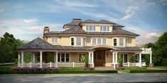 exterior houses | like design, color scheme and specially landscaping.