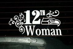 White Seattle Seahawks 12th Woman Vinyl Sticker Decal! GO HAWKS! in Sports Mem, Cards & Fan Shop, Fan Apparel & Souvenirs, Football-NFL   eBay