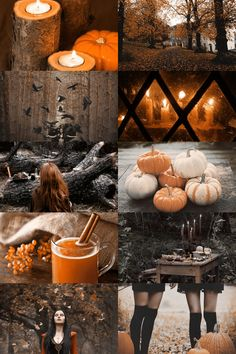 Autumn photography inspiration colors collage
