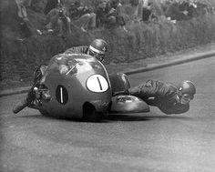 Isle of Man TT. side car guys are insane.