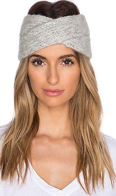 Wool grey headband
