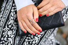 Every woman needs a statement ring #silver #stacking #ring #jewelry
