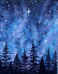 Join us for a Paint Nite event Sat Apr 2016 at 1595 Eureka Road Roseville, C. Join us for a Paint Nite event Sat Apr 2016 at 1595 Eureka Road Roseville, CA. Purchase your tickets online to reser. Night Sky Painting, Star Painting, Painting & Drawing, Galaxy Painting Acrylic, Blue Painting, Night Sky Drawing, Watercolor Night Sky, Draw Galaxy, Beautiful Paintings