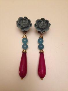 Pendientes Rosa Azul