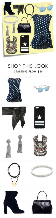 """Polyvore trend"" by jamuna-kaalla ❤ liked on Polyvore featuring Post-It, Boutique Moschino, Le Specs, IRO, Givenchy, Oscar de la Renta, Sara Bencini, Vanessa Mooney, Kate Spade and Creatures of Comfort"
