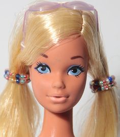 When Malibu PJ was released in 1972 she had a glamorous new look. Her Midge face had been replaced with the very popular Steffie face mold. www.modbarbies.com