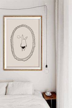 Bunny butt flap poster by Alphonnsine