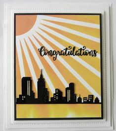 PartiCraft (Participate In Craft): Congratulations Sue Wilson, Pop Up Cards, Cardmaking, Congratulations, City Scapes, Handmade Cards, Creative, September, Crafts