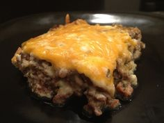 Cheesy Beef and Sausage Bake Recipe - low carb