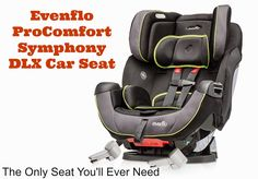 The Evenflo ProComfort Symphony DLX Car Seat Review #EvenfloPlatinum (sponsored)
