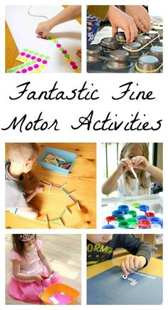These are fantastic fine motor activities for preschoolers and toddlers! Great for strengthening little hands - Kids education and learning acts Fine Motor Activities For Kids, Quiet Time Activities, Motor Skills Activities, Gross Motor Skills, Kindergarten Activities, Preschool Activities, Fall Preschool, Preschool Readiness, Kids Motor