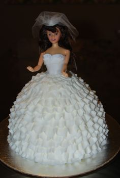 What fun I had working on this barbie cake! This cake was for a bridal shower, if you couldn't tell! Barbie Bridal, Barbie Wedding Dress, Wedding Dress Cake, Wedding Cakes, Wedding Dresses, Buttercream Ruffle Cake, Frosting, Cake Mix Cupcakes, Creamsicle Cake