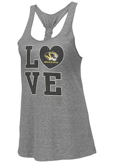 Missouri (Mizzou) Tigers Colosseum Womens Grey Forget Me Knot Tank Top http://www.rallyhouse.com/shop/missouri-tigers-colosseum-missouri-tigers-colosseum-womens-grey-forget-me-knot-tank-top-15032226 $22.00