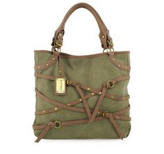4/6/2012  Price: $29.99  + FREE SHIPPING Buffalo by David Bitton Equine Fantasy Series Tatum Tote Handbag in Olive/Brown