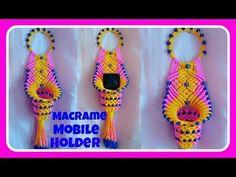 How to Make Macrame Mobile Holder.- How to Make Macrame Mobile Holder. How to Make Macrame Mobile Holder. Macrame Thread, Macrame Art, Macrame Projects, Macrame Knots, Old Chandelier, Flower Chandelier, How To Do Macrame, Wedding Card Design Indian, K Crafts