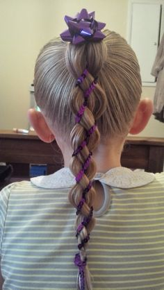 4 strand braid with with sequin ribbon #braids #sequins