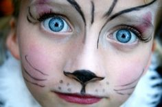 Easy Cat Face Painting | simple yet dramatic cat | Face Painting