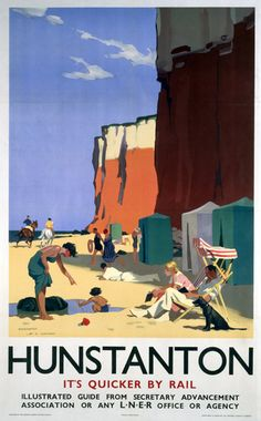 Hunstanton, LNER poster, 1923-1947. Artwork by H G Gawthorn.