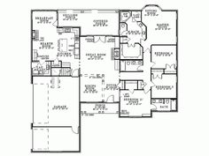 French Country House Plan with 2405 Square Feet and 4 Bedrooms from Dream Home Source   House Plan Code DHSW17701