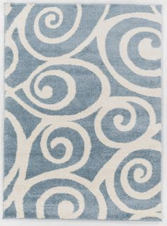 New! Enchanting, plush area rug at an affordable price with a modern coastal appeal in soft light blue shades
