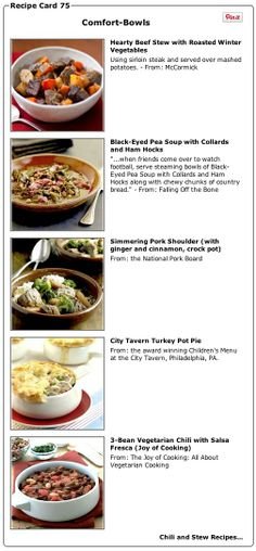Recipe Collection: Comfort-Bowls (stew and chili recipes) - Recipelink.com