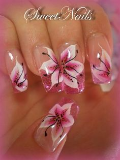 25 Delicate Flower Nail Designs Adding Lovely Blooms To Your Fingertips! – Cute DIY Projects 25 Delicate Flower Nail Designs Adding Lovely Blooms To Your Fingertips! 25 Delicate Flower Nail Designs Adding Lovely Blooms To Your Fingertips! Flower Nail Designs, Flower Nail Art, Nail Art Designs, Lily Nails, Tropical Nail Art, Nagellack Design, One Stroke Nails, Super Nails, Beautiful Nail Designs