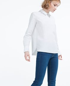 Image 2 of TOP WITH PLEATED CUFFS from Zara
