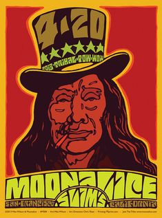 © Wes Wilson and Moonalice When T Bone Burnett told us he wanted to produce an album of Haight-Ashbury-style psychedelic roots music, he triggered the Wes Wilson, Wilson Art, Victor Moscoso, University Of Sussex, San Francisco, Kunst Poster, Psychedelic Rock, Concert Posters, Music Posters