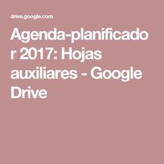 Agenda-planificador 2017: Hojas auxiliares - Google Drive