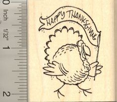 Happy Thanksgiving Turkey Rubber Stamp * Find out more about the great product at the image link.
