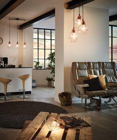 Eglo Tarbes Black Six Inch Three Light Pendant Kitchen Pendant Lighting, Pendant Lamp, Dcor Design, Chair Design, Sala Vintage, Retro Lampe, Color Cobre, Black Interior Design, Black Pendant Light