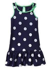 Dot bow tank dress