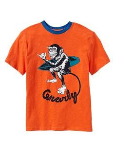 Short-sleeve raglan T | Gap  (Animal Characters, Surf)