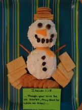 Snowman Sunday School Lesson -This has matching materials to go with this. (ideas for winter party)