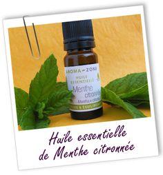 Huile essentielle Menthe citronnée Aroma-Zone http://lumierespournosdefunts.blogspot.fr/