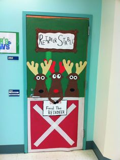 Just because we don't have a classroom doesn't mean we can't do a door deco! Right by the entry door behind the gate is best.