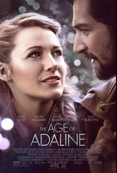 """""""The Age Of Adaline"""" ~ Blake Lively and Harrison Ford star in this stirring romantic drama about a woman who has stopped aging - and the timeless power of love Top Romantic Movies, Romance Movies Best, Drama Movies, Romance Film, Blake Lively, Für Immer Adaline, Adaline Bowman, Age Of Adaline, Bon Film"""