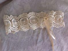 Crochet Lace Bridal Garter/Wedding Garter