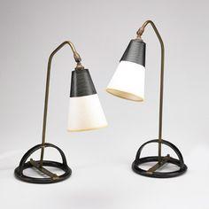 Jacques Adnet desk lamps c. 1950s