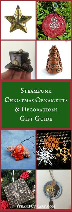 Fans of steampunk can have a lot of fun creating a steampunk Christmas tree or decorating their home with steampunk holiday decorations.